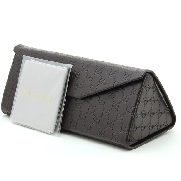 Gucci Tri-fold Leather Sunglasses Case w/Cloth